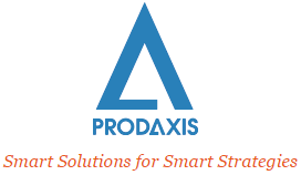 Logo PRODAXIS, Smart Solutions for Smart Strategies